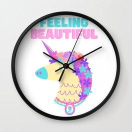 Feeling Beautiful by Bella Wall Clock