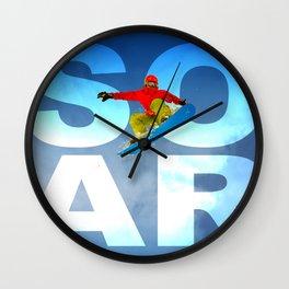 Snowboard Soar! Wall Clock
