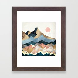 Golden Peaks Framed Art Print