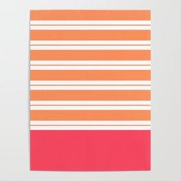 Popsicle Stripes Poster