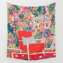 Red Chair Wall Tapestry
