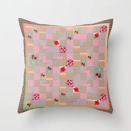 Rose Quilt Throw Pillow