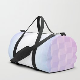 Pastel Cube Pattern Ombre 1 - pink, blue and vi Duffle Bag