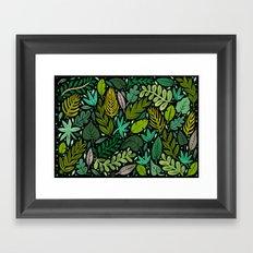 Green Scatter Framed Art Print