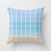 glass Throw Pillows featuring Glass by Ana Guillén Fernández