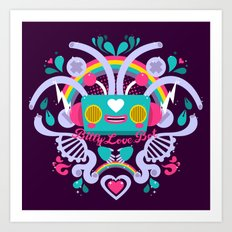 Bitty Love Bot Art Print