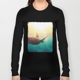 Sea Turtle - Underwater Nature Photography Long Sleeve T-shirt