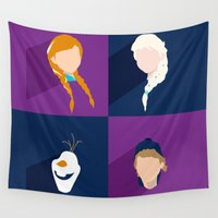 olaf Wall Tapestries featuring Frozen by laurenschroer