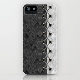 Lacing . 1 . Black and white snake. l iPhone Case