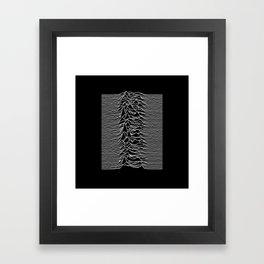 Joy Division - Unknown Pleasures Framed Art Print