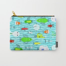 Trash Fish Pattern Carry-All Pouch