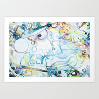 Fibroblasts - Watercolor Painting Art Print