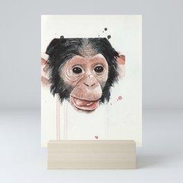 Baby monkey Mini Art Print