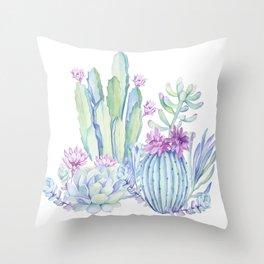 Mixed Cacti White #society6 #buyart Throw Pillow