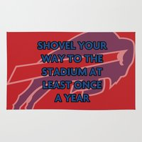nfl Area & Throw Rugs featuring NFL - Bills Shovel Your Way by Katieb1013
