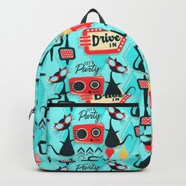 Retro Party Kitties V.01 Backpack