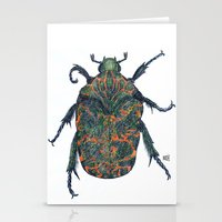 beetle Stationery Cards featuring Beetle by MSRomeiro
