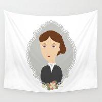 virginia Wall Tapestries featuring Virginia Woolf by Creo tu mundo