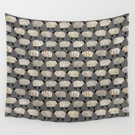 Wee Wooly Sheep in Aran Sweaters  Wall Tapestry