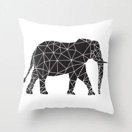 Elephant Angles (Help Save Endangered Elephants) Throw Pillow