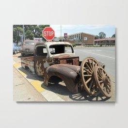Vintage  Old Car Metal Print