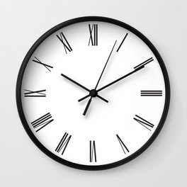 Modern Romans Wall Clock