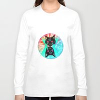 hippy Long Sleeve T-shirts featuring Hippy Cats #2 by Lauren Miller