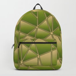 'Quilted' Geometric in Golden Lime Backpack