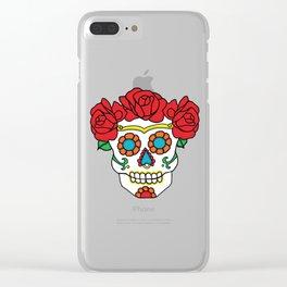 Rose Calavera Clear iPhone Case