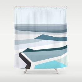 Geometric Bondi beach, Sydney Shower Curtain