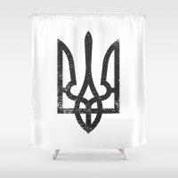 ukraine Shower Curtains featuring Ukraine by Sitchko Igor