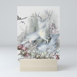 The Deer in My Forest Mini Art Print
