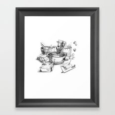 Water-chestnut cake Framed Art Print