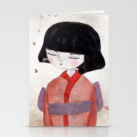 sakura Stationery Cards featuring Sakura by munieca