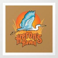 Heron's Haven Art Print