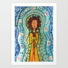 May Your Heart be Open Art Print