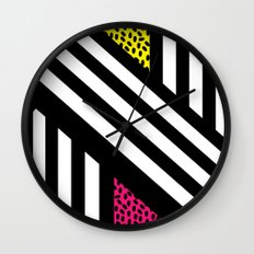 Allsorts (geometric monochrome) Wall Clock