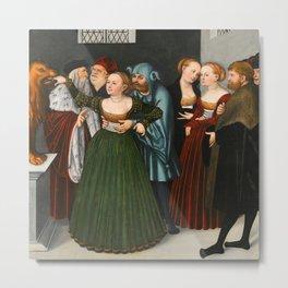 """Lucas Cranach the Elder """"Bocca della Verità (The Mouth of Truth)"""" Metal Print"""