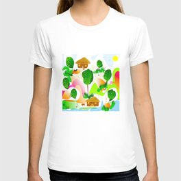 Countryside illustration T-shirt