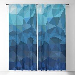 blue geometric Blackout Curtain