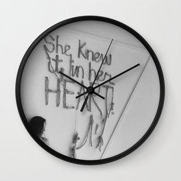 SHE KNEW IT IN HER HEART II Wall Clock