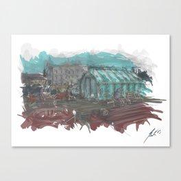 Roof Terrasse, Lynfabrikken Aarhus, Denmark Canvas Print