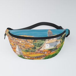 Piran old town and Adriatic sea Fanny Pack