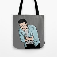 liam payne Tote Bags featuring Liam Payne by 90's Class