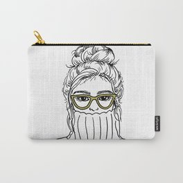 Turtleneck Girl Portrait Carry-All Pouch