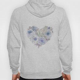 Loose bird of paradise, blue paradisebirds, floral  graphicdesign, birds, home decor Hoody