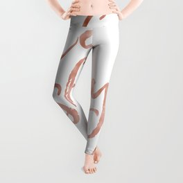 Eat slay love - rose gold quote Leggings