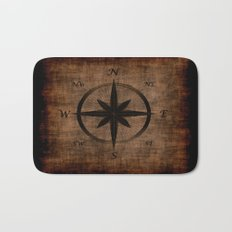 Nostalgic Old Compass Rose Bath Mat