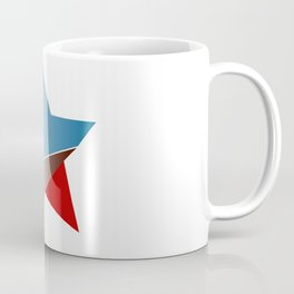 Ombre red white and blue star Coffee Mug