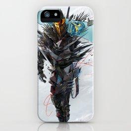 Ninja mode snowboaring iPhone Case
